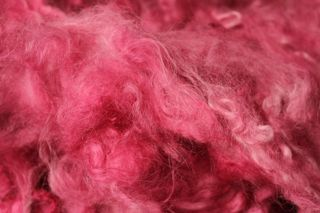 Image of hand-dyed fiber