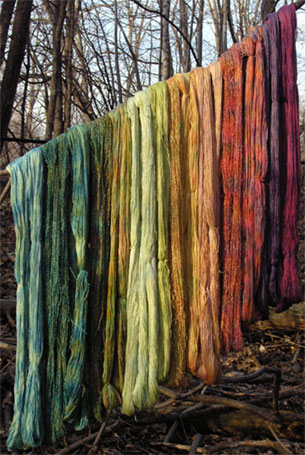 Image of hand-dyed yarn